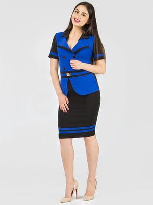 Платье черно-синее | 5419725