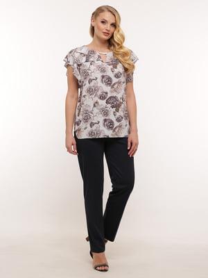 Блуза сіра з принтом   5419760