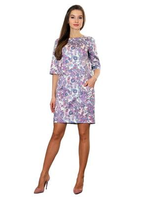 Платье сиреневое с принтом   5419763