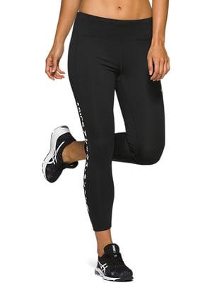 Легінси спортивні чорні з логотипом | 5398094
