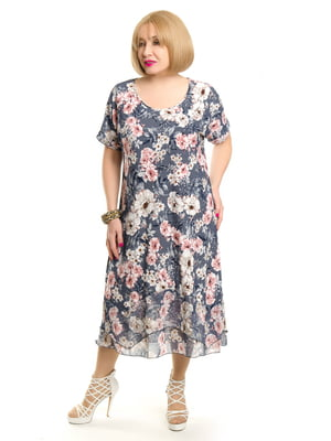 Платье в цветочный принт | 5400879