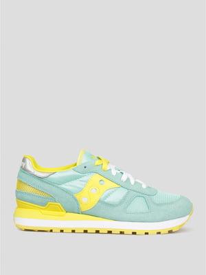 Кроссовки желто-голубые | 5398522
