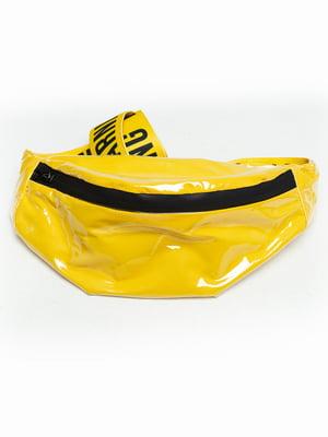 Сумка желтая с принтом | 5421515