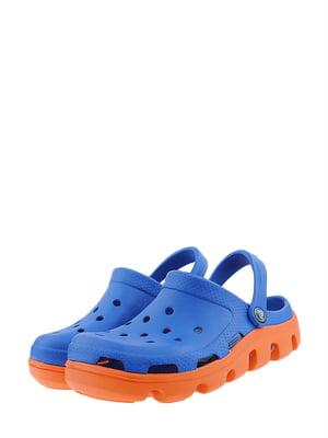 Сабо синьо-помаранчевого кольору | 5422662