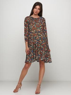 Сукня кольору хакі в принт | 5423065