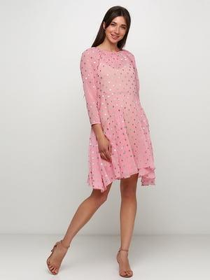 Сукня рожева в принт | 5423067