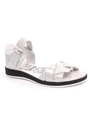 Босоножки бело-серебристого цвета | 5422615