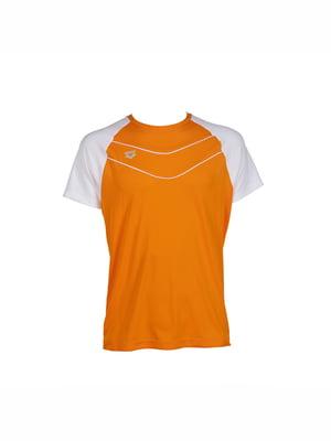 Футболка бело-оранжевого цвета | 5259564