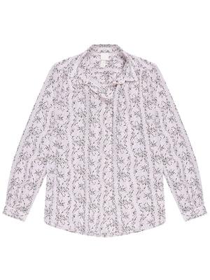 Блуза цвета пудры с принтом | 5350875