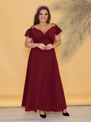 Сукня кольору марсал   5423524