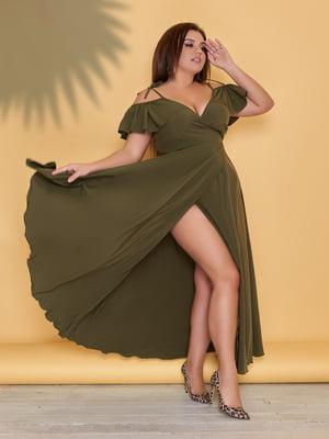 Платье цвета хаки | 5423526