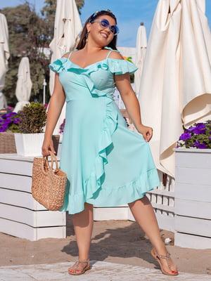 Платье мятного цвета | 5423537
