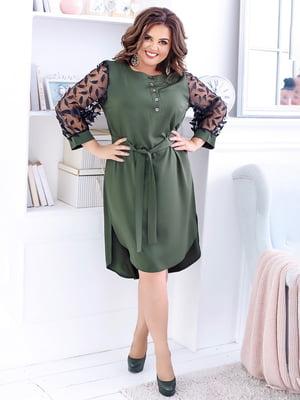 Платье цвета хаки | 5423540