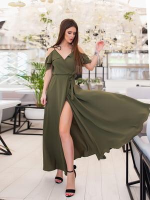 Платье цвета хаки | 5423556