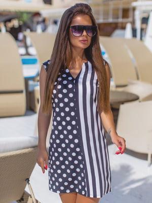 Платье черно-белое в принт | 5423597