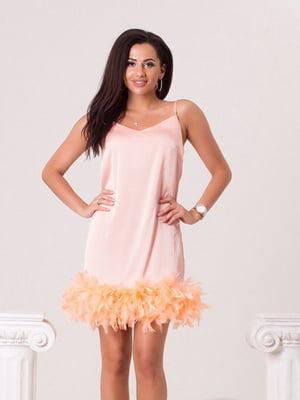 Сукня пудрового кольору | 5423636
