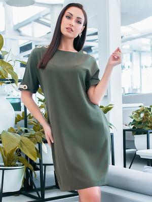 Сукня кольору хакі   5423639