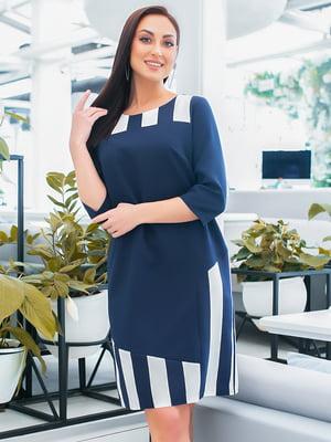 Сукня синя в смужку | 5423655