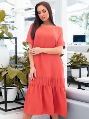 Платье кораллового цвета | 5423673