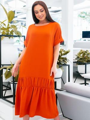Сукня помаранчевого кольору | 5423674