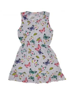 Сукня сіра з принтом | 5423999