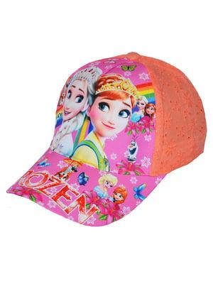 Кепка персикового цвета с принтом   5424075