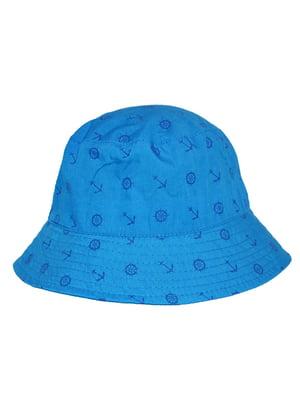 Панама блакитна з принтом | 5424122