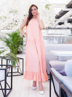 Платье светло-кораллового цвета | 5379598