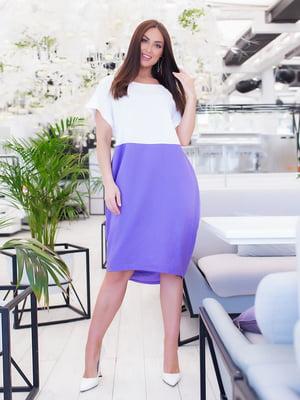 Сукня біло-бузкова | 5379602