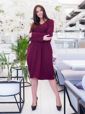 Сукня кольору марсала | 5379627