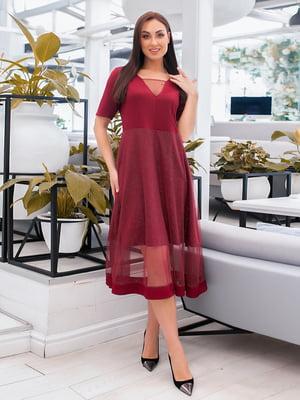 Сукня бордова | 5423691