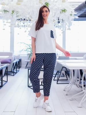 Пижама: футболка и брюки | 5423698