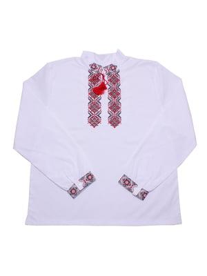 Вышиванка белая с узором | 5361570