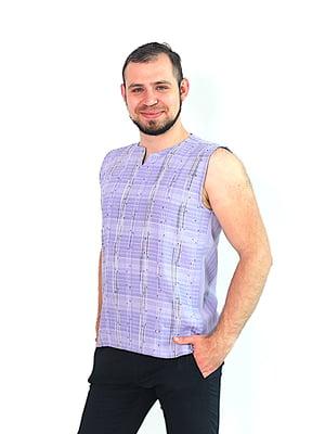Жилет фіолетовий з візерунком   5426539