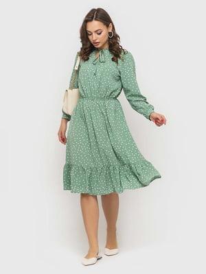 Сукня м'ятного кольору в горошок | 5426817