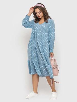 Сукня блакитна в горошок   5426818