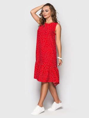 Платье красное в горох | 5426823