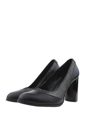 Туфлі чорно-нікелевого кольору | 5422532