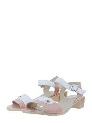 Босоніжки рожево-сірі   5422546