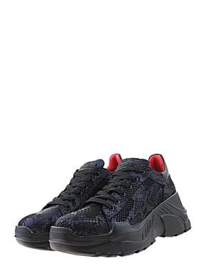 Кроссовки сине-черные | 5425193