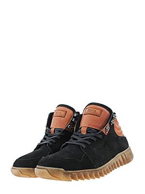 Ботинки черно-рыжего цвета   5427154