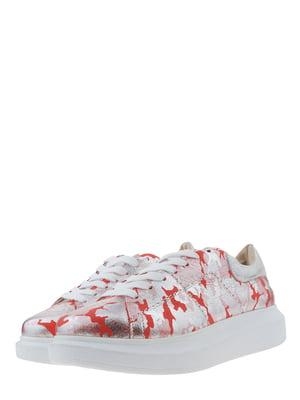 Кросівки червоно-сріблясті | 5427184
