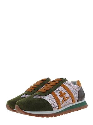 Кросівки зелено-гірчичного кольору | 5427187