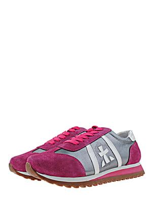 Кросівки малиново-сірі | 5427188