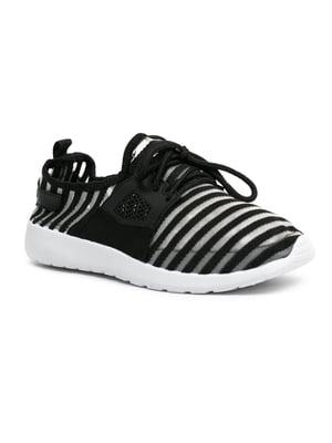 Кросівки чорно-білі в смужку | 5426443