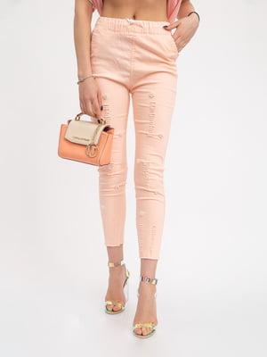 Штани персикового кольору | 5426885