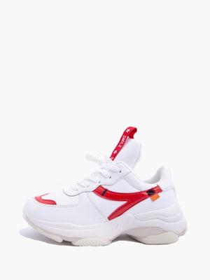Кросівки біло-червоні | 5426915