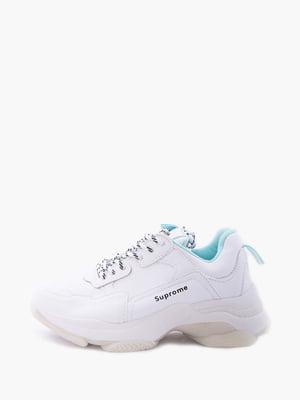 Кросівки біло-бірюзові | 5426916