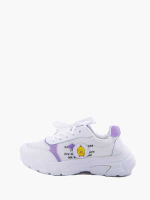 Кросівки біло-фіолетові | 5426918