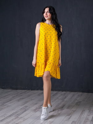 Сукня жовта в горошок | 5427627